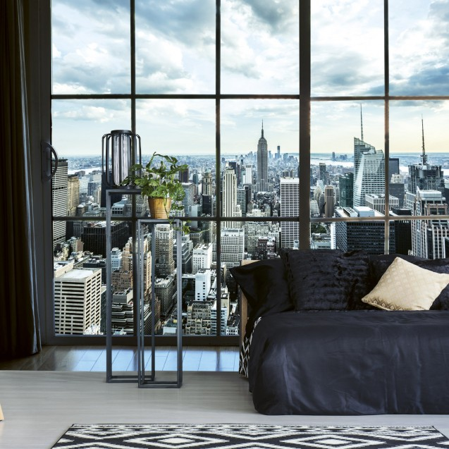 Foto tapet 3D Manhattan Window View, Dimex, 5 fâșii, 375 x 250cm