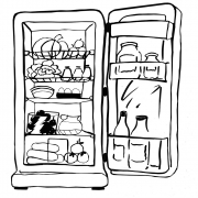 Fototapet Fridge B and W D144, personalizat, InCreation