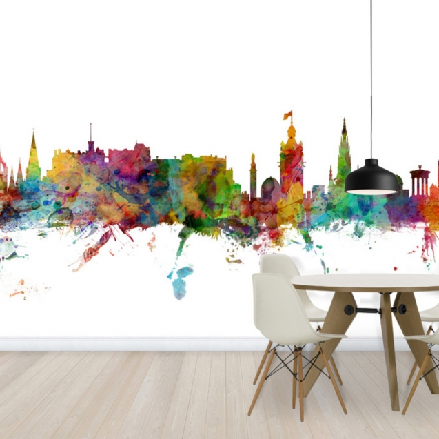 Edinburgh Skyline, personalizat, Photowall