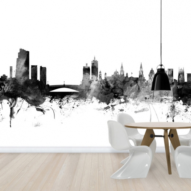 Leeds UK Skyline Black, personalizat, Photowall