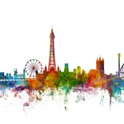 Blackpool England Skyline, personalizat, Photowall