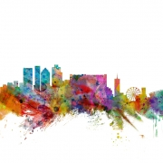 Cape Town South Africa Skyline, personalizat, Photowall