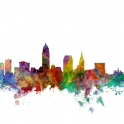 Cleveland Ohio Skyline, personalizat, Photowall