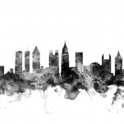 Atlanta Georgia Skyline Black, personalizat, Photowall