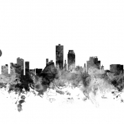 Knoxville Tennessee Skyline Black, personalizat, Photowall