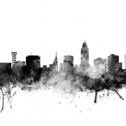 Lincoln Nebraska Skyline Black, personalizat, Photowall