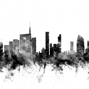 Milan Skyline Black, personalizat, Photowall
