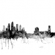 Tampa Florida Skyline Black, personalizat, Photowall