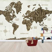 Modern World Gold, personalizat, Photowall