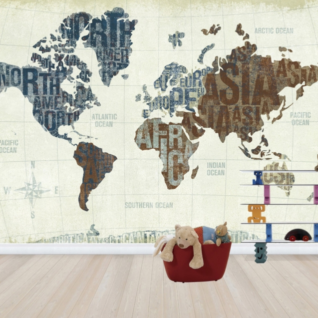 Modern World Neutral, personalizat, Photowall