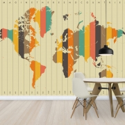 Imagine There is No Countries - Beige, personalizat, Photowall