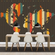 Imagine There is No Countries - Brown, personalizat, Photowall