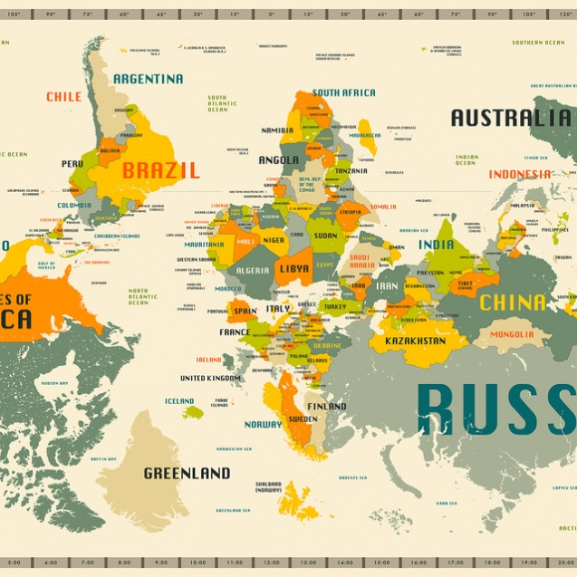 World Map Explore Upside Down, personalizat, Photowall