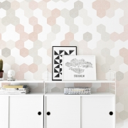 Fototapet Hexagon - Pink, personalizat, Photowall