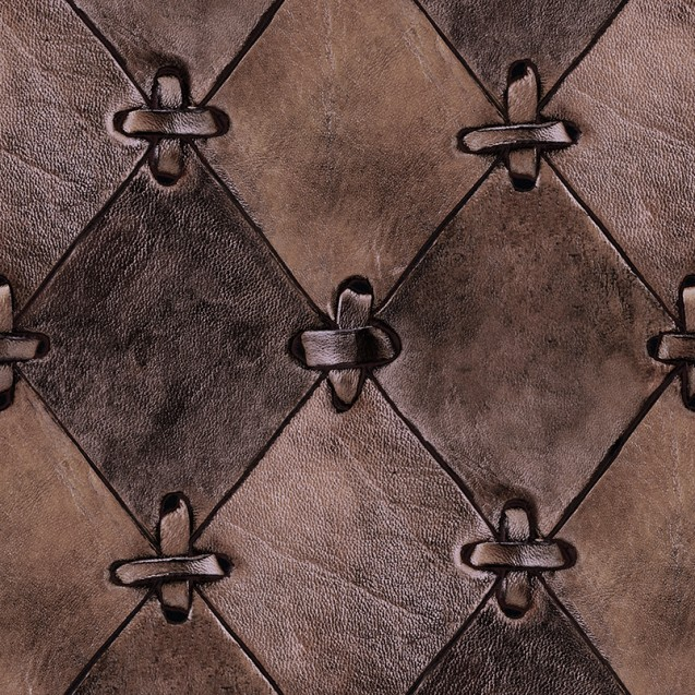 Fototapet Leather Rhombs, vintage, personalizat, repetitiv, Rebel Walls