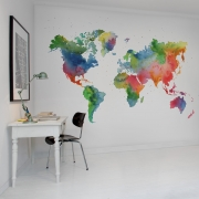 Fototapet Rainbow World, personalizat, Rebel Walls