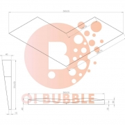 Panou decorativ din burete O!Bubble Birdy