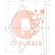 Panou decorativ din burete O!Bubble Jewel