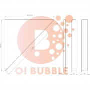 Panou decorativ din burete O!Bubble Like