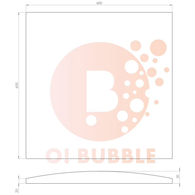 Panou decorativ din burete O!Bubble Match