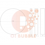 Panou decorativ din burete O!Bubble Point