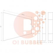 Panou decorativ din burete O!Bubble Trap
