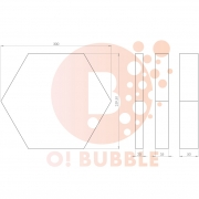 Panou decorativ din burete O!Bubble Honey