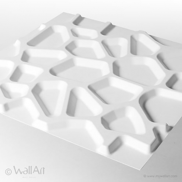 Panouri decorative 3D Gaps WallArt, 12 placi 50x50cm