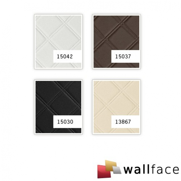 Panou decorativ LEATHER 15037, WallFace, autocolant