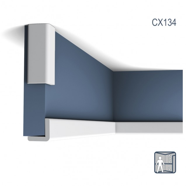 Cornisa Axxent CX134, Dimensiuni: 200 X 3 X 3 cm, Orac Decor