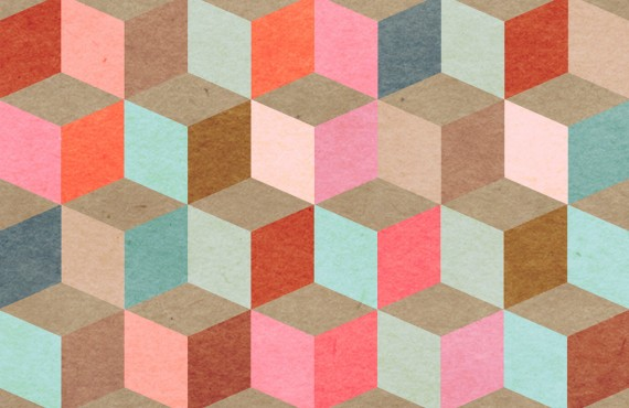 Tapet designer Pattern Coloured Geometry, MINDTHEGAP