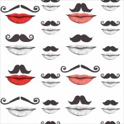 Tapet designer Illusions Moustache and lips, MINDTHEGAP