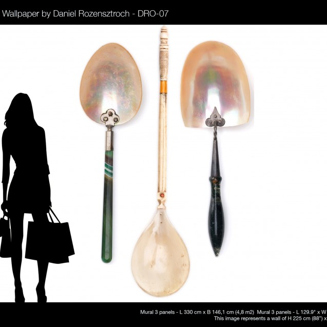 Tapet designer Obsession -  SPOONS XL by Daniel Rozensztroch, DRO-07, NLXL, 4.8mp / model